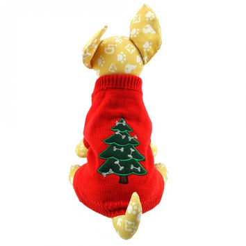 Dog sweater dog clothes winter dog clothes Small Dog Clothes Costume Xmas Christmas Sweater XS S M L