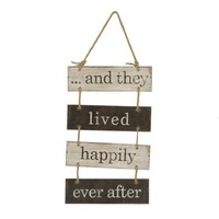 Happily Ever After Wood Plank Plaque