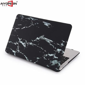 for macbook air case black marble pattern hard plastic full protect with transparent keybaord cover for macbook air 11 13 inch