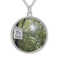Sterling Pendant Necklace FOREVER WILD Nature Tree