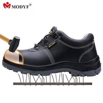 Modyf Bestrun outdoor boots men steel toe cap boots high quality Genuine leather upper