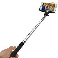 Selfie Stick, Noot® Groupie Self Portrait [Battery Free] Extendable Handled Stick with Adjustable Phone Holder Mount & Built-in Remote Shutter Designed for Apple & Android Smartphones [Pink]
