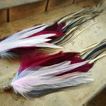 Raevyn Extra Long Feather Earrings