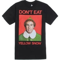 Ripple Junction Yellow Snow Warning T-Shirt - Mens Tee - Black