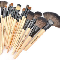 Premium Wood Brush Set with Free Case – My Make-Up Brush Set