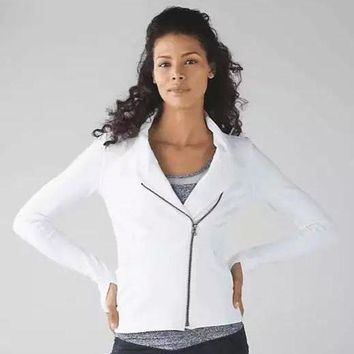 CREYUP0 Lululemon Women Fashion Casual Zipper Cardigan Jacket Coat-2