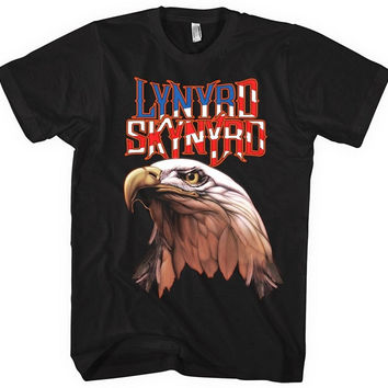 Lynyrd Skynyrd Americana Men's Eagle T-Shirt, Black (Large)