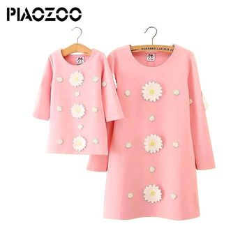 mother daughter dress floral Mommy and me clothes family matching couple outfits sisters parent party dresses P20