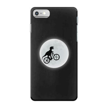 Dinosaur Riding A Bike To The Moon iPhone 7 Shell Case