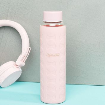 Ted Baker Pink Bow Print Water Bottle at asos.com