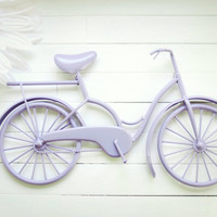 Lavender Metal Bicycle / Metal Bike Art / Beach Decor / Shabby Chic Decoration / Bike Decoration / Bicycle Art / Traditional Decor