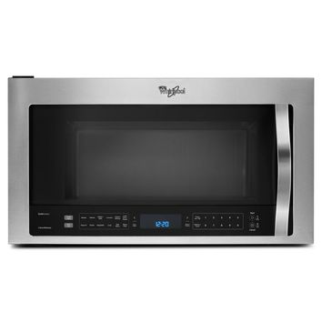 Whirlpool 30 in. W 1.9 cu. ft. Over the Range Microwave with True Convection Cooking in Fingerprint Resistant Stainless Steel-WMH76719CZ - The Home Depot