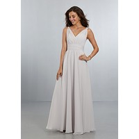 Morilee Bridesmaids 21553 V-Neck Chiffon Bridesmaid Dress