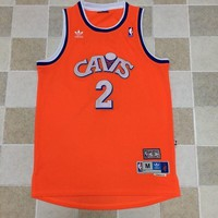 KUYOU Cleveland Cavaliers Kyrie Irving Orange 100% Authentic Jersey