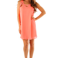 Afternoon Dream Dress: Neon Coral
