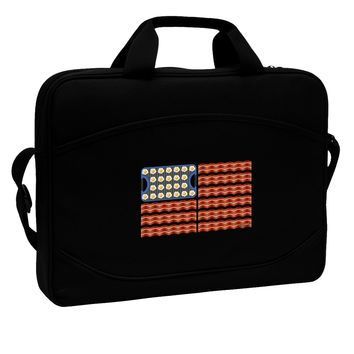 "American Breakfast Flag - Bacon and Eggs 15"" Dark Laptop / Tablet Case Bag by TooLoud"