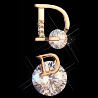 DIOR New fashion letter diamond women earring accessories Rose gold