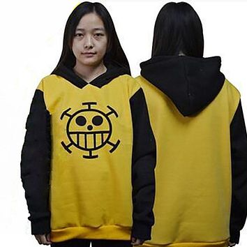 Top Anime One Piece Trafalgar Law Hoodie Autumn Winter Sweatshirt Cotton Hoody Cosplay Clothes Size S-XL