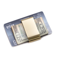 Gold Plated Twin Slot Money Clip