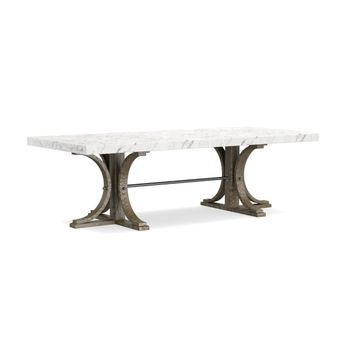 Glen Ellen Dining Table, Faux Marble