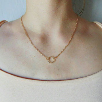 Eternity Necklace - Minimalist Necklace - Dainty Necklace - Circle Necklace - Valentines Day Gift