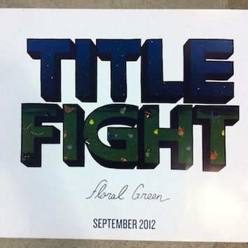 TITLE FIGHT - Floral Green 18X24 Poster