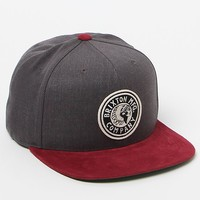 Brixton Rival Suede Bill Snapback Hat - Mens Backpack - Burgundy & Charcoal - One