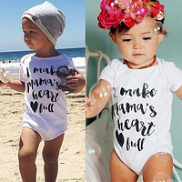 Baby Bodysuit Letter Printed Jumpsuit Overall Body Suit Baby Clothing Summer Cotton Baby Bodysuits For Boys Girls Clothes