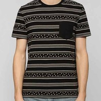 BDG Stars Stripe Pocket Tee- Black M