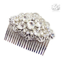 Rhinestone Clear Crystal Bridal hair comb hair accessory Wedding tiara