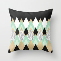 Queen Throw Pillow by Elisabeth Fredriksson