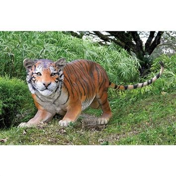 SheilaShrubs.com: The Grand-Scale Wildlife Animal Collection - Bengal Tiger Statue NE80120 by Design Toscano: Garden Sculptures & Statues