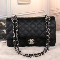 CHANEL Women Fashion Shopping Leather Chain Satchel Shoulder Bag Crossbody
