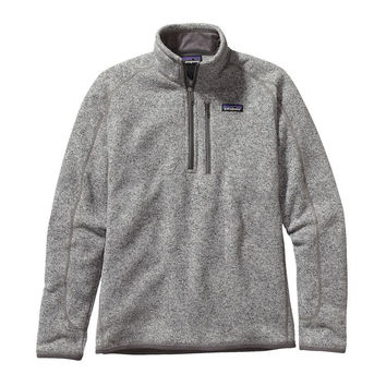 Patagonia Men's Better Sweater Quarter Zip Fleece- Stonewash