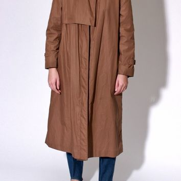 Brown Buckle Trench Coat / M