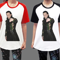 Loki Point Cr Tom Hiddleston Marvel The Avengers Thor Unisex Men Women Short Sleeve Baseball Shirt Tshirt