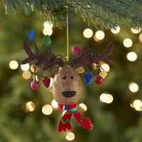 Glitter Reindeer Head Ornament$3.96$4.95