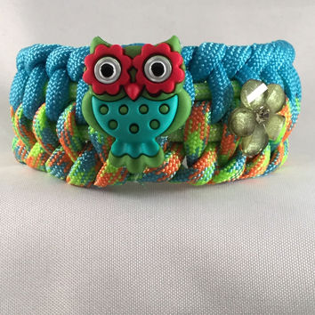 Toot the Owl - Children Paracord Heaven Survival Bracelet with Knot Closure