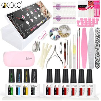 #70321 2017 Newest venalisa brand nail art DIY design 8ml*10 pcs nail gel polish lacquer gel start learner diy kit