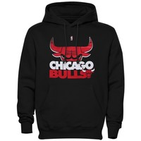 Mens Chicago Bulls Majestic Black Big & Tall Game Face Pullover Sweatshirt