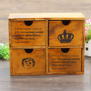 Weathered Crown Storage Gifts Accessory Box [6282802758]