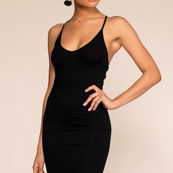 Remember That Night Bodycon Dress - Black