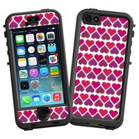 """Hearts White """"Protective Decal Skin"""" for LifeProof nuud iPhone 5s Case"""