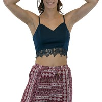 Lace Bottom Crop Top
