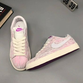 NIKE Women Running Sport Casual Shoes Sneakers Low Help Shoes Pink I-CSXY