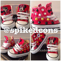 Mickey or Minnie Mouse spike studded converse toddler/infant