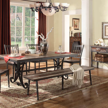 Annabelle Industrial Dining Set