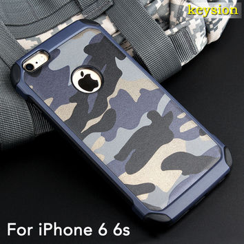 2in1 Armor Hybrid Plastic+TPU Army Camo Camouflage Rear Cover for iPhone 6 6S 6s Plus with Special Shockproof Angle Phone Cases