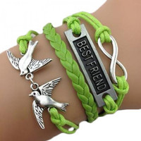 Multi Layers Birds and Infinity Element Braided Bracelet