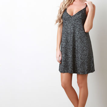 Sparkling Glitter Shift Dress